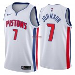 Divise Basket Personalizzate NBA Detroit Pistons NO.7 Stanley Johnson Bianco Association 2018