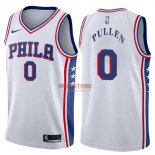 Divise Basket Personalizzate NBA Philadelphia Sixers NO.0 Jacob Pullen Bianco Association 2017/2018