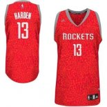 Divise Basket Personalizzate NBA Houston Rockets Luce Leopard NO.13 Harden Rosso
