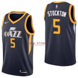 Divise Basket Personalizzate NBA Utah Jazz NO.5 David Stockton Marino Icon 2017/2018