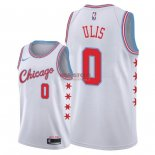 Divise Basket Personalizzate NBA Chicago Bulls NO.0 Tyler Ulis Nike Bianco Città 2018