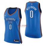 Divise Basket Personalizzate NBA Donna Oklahoma City Thunder NO.0 Russell Westbrook Blu Icon 2017/2018