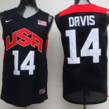 Divise Basket Personalizzate NBA 2012 USA Anthony Davis NO.14 Nero