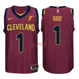 Divise Basket Personalizzate NBA Cleveland Cavaliers NO.1 Derrick Rose Rosso 2017/2018
