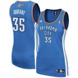Divise Basket Personalizzate NBA Donna Oklahoma City Thunder NO.35 Kevin Durant Blu