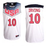 Divise Basket Personalizzate NBA 2014 USA Irving NO.10 Bianco