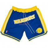 Scontate Pantaloncini NBA Golden State Warriors Nike Retro Blu