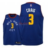 Divise Basket Personalizzate NBA Bambino Denver Nuggets NO.3 Torrey Craig Blu Statement 2018/2019