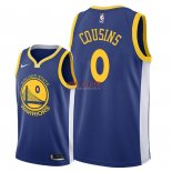 Divise Basket Personalizzate NBA Golden State Warriors NO.0 DeMarcus Cousins Blu Icon 2018