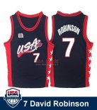 Divise Basket Personalizzate NBA 1996 NBA USA David Robinson NO.7 Nero