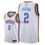 Divise Basket Personalizzate NBA Oklahoma City Thunder NO.2 Raymond Felton Bianco Association 2018