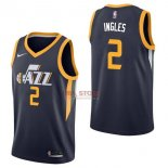 Divise Basket Personalizzate NBA Utah Jazz NO.2 Joe Ingles Marino Icon 2017/2018