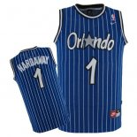 Divise Basket Personalizzate NBA Orlando Magic NO.1 Anfernee Hardaway Blu