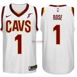 Divise Basket Personalizzate NBA Cleveland Cavaliers NO.1 Derrick Rose Bianco 2017/2018