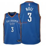 Divise Basket Personalizzate NBA Bambino Oklahoma City Thunder NO.3 Nerlens Noel Blu Icon 2018