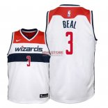 Divise Basket Personalizzate NBA Bambino Washington Wizards NO.3 Bradley Beal Bianco Association 2018