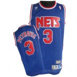 Divise Basket Personalizzate NBA Brooklyn Nets NO.3 Drazen Petrovic Blu