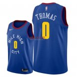 Divise Basket Personalizzate NBA Denver Nuggets NO.0 Isaiah Thomas Blu Statement 2018/2019