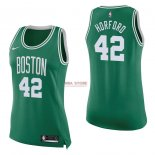Divise Basket Personalizzate NBA Donna Boston Celtics NO.42 Al Horford Verde Icon 2017/2018