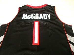 Divise Basket Personalizzate NBA Toronto Raptors NO.1 Tracy McGrady Nero