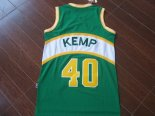 Divise Basket Personalizzate NBA Seattle Supersonics NO.40 Shawn Kemp Verde