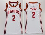 Divise Basket Personalizzate NBA Donna Cleveland Cavaliers NO.2 Kyrie Irving Bianco