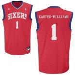Divise Basket Personalizzate NBA Philadelphia Sixers NO.1 Michael Carter Williams Rosso