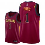 Divise Basket Personalizzate NBA Cleveland Cavaliers NO.1 Rodney Hood Rosso Icon 2018