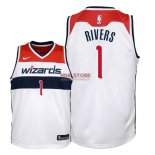 Divise Basket Personalizzate NBA Bambino Washington Wizards NO.1 Austin Rivers Bianco Association 2018