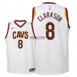 Divise Basket Personalizzate NBA Bambino Cleveland Cavaliers NO.8 Jordan Clarkson Bianco Association 2018