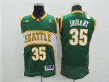 Divise Basket Personalizzate NBA Seattle Supersonics NO.35 Kevin Durant Verde