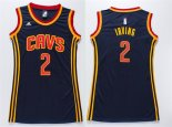 Divise Basket Personalizzate NBA Donna Cleveland Cavaliers NO.2 Kyrie Irving Blu
