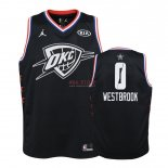 Divise Basket Personalizzate NBA Bambino 2019 All Star NO.0 Russell Westbrook Nero