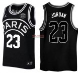 Divise Basket Personalizzate NBA Jordan x Paris Saint-Germain NO.23 Jordan Nero Logo Bianco