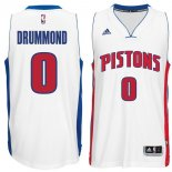 Divise Basket Personalizzate NBA Detroit Pistons NO.0 Andre Drummond Bianco