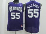 Divise Basket Personalizzate NBA Sacramento Kings NO.55 Jason Williams Purpura