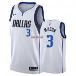 Divise Basket Personalizzate NBA Dallas Mavericks NO.3 Daryl Macon Bianco Association 2018