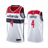 Divise Basket Personalizzate NBA Nike Washington Wizards NO.4 Isaiah Thomas Bianco Association 2019-20