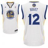 Divise Basket Personalizzate NBA Golden State Warriors NO.12 Andrew Bogut Bianco