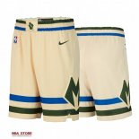 Scontate Pantaloni NBA Milwaukee Bucks Nike Crema Città 2019-20
