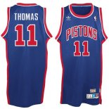 Divise Basket Personalizzate NBA Detroit Pistons NO.11 Isiah Thomas Blu