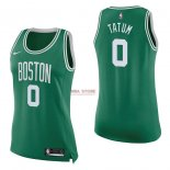 Divise Basket Personalizzate NBA Donna Boston Celtics NO.0 Jayson Tatum Verde Icon 2017/2018