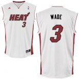 Divise Basket Personalizzate NBA Miami Heat NO.3 Dwyane Wade Bianco Rosso