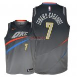 Divise Basket Personalizzate NBA Bambino Oklahoma City Thunder NO.7 Timothe Luwawu Cabarrot Nike Grigio Città 2018