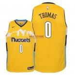 Divise Basket Personalizzate NBA Bambino Denver Nuggets NO.0 Isaiah Thomas Giallo Statement 2018