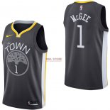 Divise Basket Personalizzate NBA Golden State Warriors NO.1 JaVale McGee Nero Statement 2017/2018