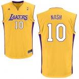 Divise Basket Personalizzate NBA L.A.Lakers NO.10 Steve Nash Giallo