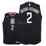 Divise Basket Personalizzate NBA Bambino L.A.Clippers NO.2 Shai Gilgeous Alexander Nero Statement 2018