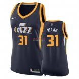 Divise Basket Personalizzate NBA Donna Utah Jazz NO.31 Georges Niang Marino Icon 2018