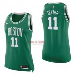 Divise Basket Personalizzate NBA Donna Boston Celtics NO.11 Kyrie Irving Verde Icon 2017/2018